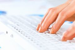 Typing work Royalty Free Stock Photos