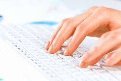 Typing work Royalty Free Stock Photography