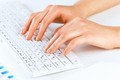 Typing work Stock Photography