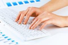 Typing work Royalty Free Stock Photo