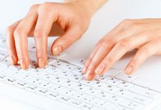Typing work Stock Photos