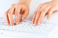 Typing work Royalty Free Stock Image
