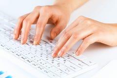 Typing work Stock Image