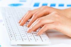 Typing work Stock Photos