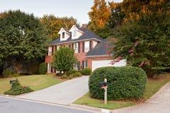 Typisch Amerikaans huis Royalty-vrije Stock Afbeeldingen