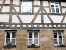 Typisch Beiers fachwerkhuis, Furth, Duitsland Stock Foto