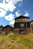 Typisch blokhuis in Noorwegen Stock Afbeelding