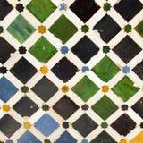 Typisch $c-andalusisch mozaïek, Spanje Stock Foto's