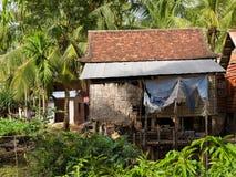 Typisch Cambodjaans huis Royalty-vrije Stock Afbeeldingen