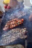 Typisch de grillvoedsel van Marocco royalty-vrije stock afbeelding