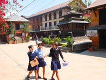 Typisch Dorp, centraal Nepal Royalty-vrije Stock Afbeeldingen