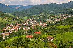 Typisch dorp in het Zwarte Bos Royalty-vrije Stock Afbeeldingen