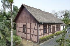 Typisch Duits helft-Betimmerd Historisch Huis Royalty-vrije Stock Foto's
