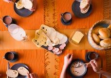 Typisch Duits ontbijt royalty-vrije stock foto's