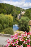 Typisch Frans dorp Stock Afbeelding