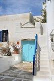 Typisch Grieks eilandhuis - Paros Eiland, Griekenland Stock Foto