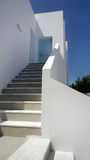 Typisch Grieks huis in Santorini Stock Afbeelding