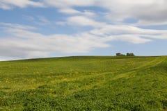 Typisch huis in het gebied van Toscanië stock foto