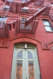 Typisch huis in New York Royalty-vrije Stock Foto's
