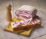 Typisch Italiaans bacon stock foto's