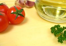 Typisch Italiaans ingrediënt aan voedsel Royalty-vrije Stock Foto's