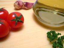 Typisch Italiaans ingrediënt aan voedsel Stock Foto