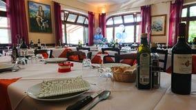 Typisch Italiaans Restaurant Toscanië royalty-vrije stock afbeelding
