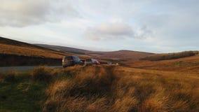 Typisch Landschap bij Piekdistricts Nationaal Park in Engeland stock video