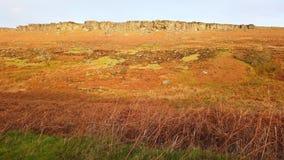 Typisch Landschap bij Piekdistricts Nationaal Park in Engeland stock footage