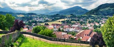 Typisch landschap in Pays Basque, Frankrijk Royalty-vrije Stock Afbeelding
