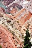 Typisch landschap in Pumamarca, Argentinië royalty-vrije stock foto