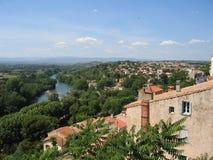 Typisch landschap van Languedoc-Roussillon, Frankrijk Royalty-vrije Stock Afbeeldingen