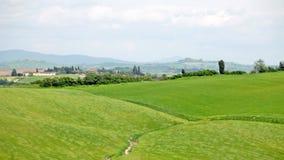 Typisch landschap van Toscanië Stock Fotografie