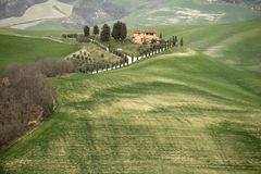 Typisch landschap van Toscani?, Itali? stock foto