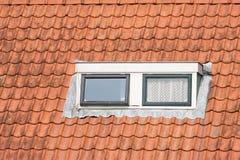Typisch Nederlands dak met koekoek en vensters Stock Fotografie