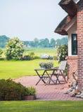 Typisch Nederlands de zomerterras Royalty-vrije Stock Foto