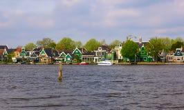 Typisch Nederlands dorp Royalty-vrije Stock Afbeelding