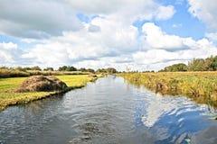 Typisch Nederlands landschap in Nederland Royalty-vrije Stock Afbeelding