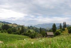 Typisch Oosteuropees landschap stock afbeeldingen