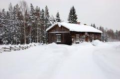Typisch plattelandshuisje in Zweden Royalty-vrije Stock Foto's