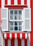 Typisch verfraaid venster in Nova Costa Royalty-vrije Stock Afbeelding