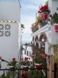 Typisch wit huis in Mijas spanje Royalty-vrije Stock Foto's