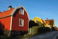 Typisch Zweeds huis Stock Afbeeldingen