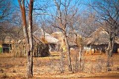 Typische Afrikaanse hutten Royalty-vrije Stock Afbeeldingen