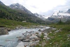 Typische alpine Landschaft Lizenzfreies Stockbild