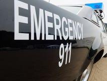 Typische Amerikaanse politiewagen Stock Afbeelding