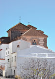 Typische andalusische landwirtschaftliche Kirche Lizenzfreie Stockbilder