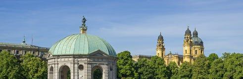 Typische Ansicht von München im Bayern Stockfotos