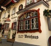 Typische architectuur in Kufstein Stock Fotografie