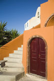 Typische architectuur op Santorini-eiland Royalty-vrije Stock Afbeeldingen